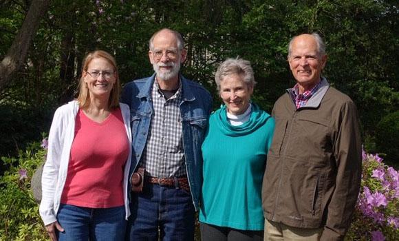 Wayne Burt's four children, L-R Darcy Burt Schoenberg, Larry Burt, Christine Burt Cook, John Burt