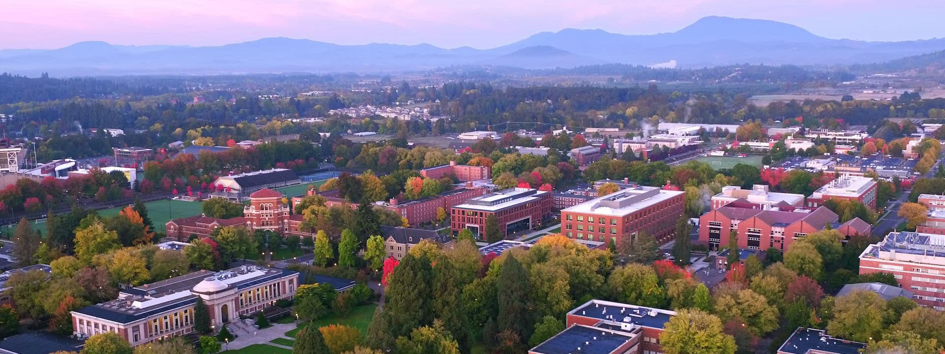 Oregon State University campus from the air