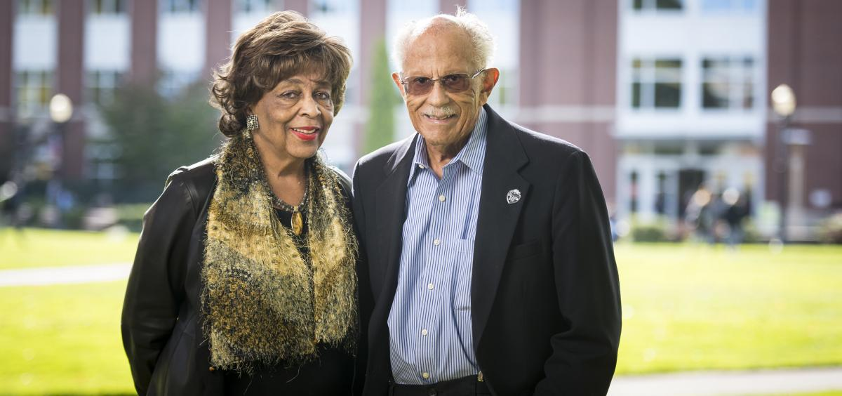 Warren Washington and his wife Mary