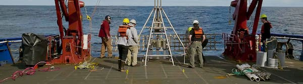 researchers on ship deck
