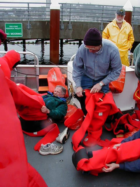 Donning Survival Suits