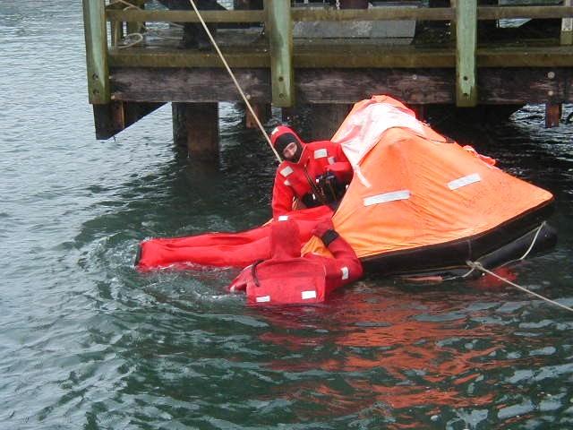Entering Life Raft