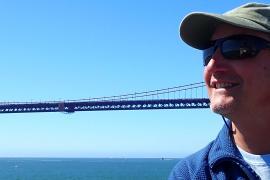 Jack Barth under bridge
