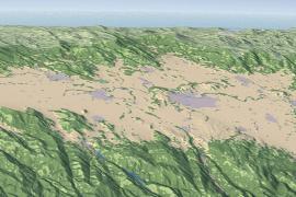 map of Willamette River Basin